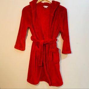 {POTTERY BARN KIDS} Plush Red Hooded Robe
